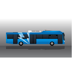 blue electric bus with lightning symbol vector image