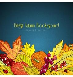Bright autumn background vector