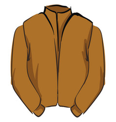 brown jacket on white background vector image