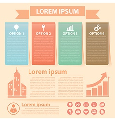 business infographics banner vector image
