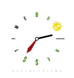 business time is money conceptual watch with vector image
