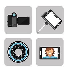 Camera concept vector