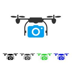 camera drone flat icon vector image
