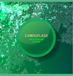 camouflage green background vector image