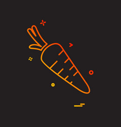 carrot icon design vector image