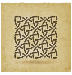celtic pattern vintage background vector image