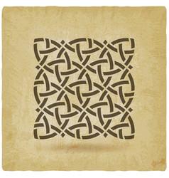 Celtic pattern vintage background vector