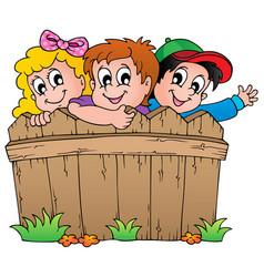 children theme image 1 vector image