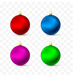 christmas toys and decorations different colors vector image