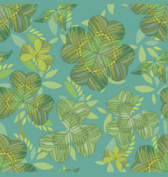 clover background seamless pattern clover vector image