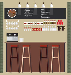 coffee shop design vector image