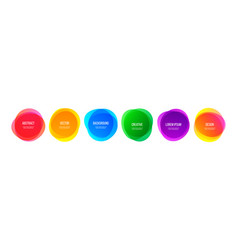 Color round shape banners and abstract colorful vector