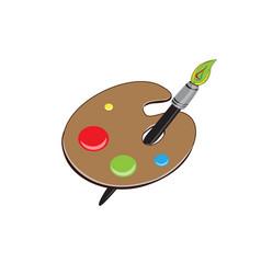 colour pan vector image