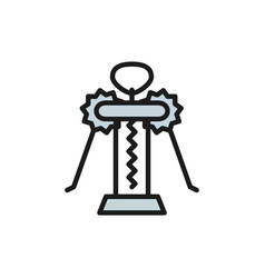 corkscrew butterfly flat color line icon vector image