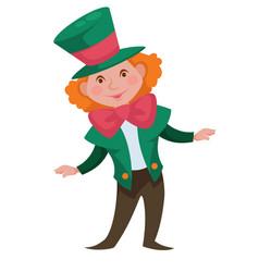 Crazy hatter alice in wonderland fairy character vector