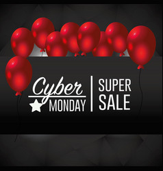 cyber monday offer to special sale vector image
