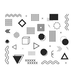 design element geometric shapes abstract graphic vector image