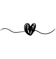 doodle heart symbol sketch love symbol vector image