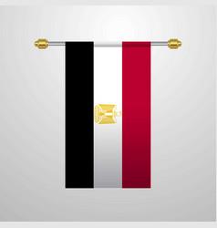 egypt hanging flag vector image