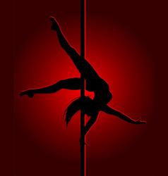 Flexible dancing girl vector