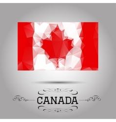 geometric polygonal Canada flag vector image