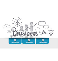 growth startup business stock market forex vector image