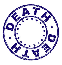 Grunge textured death round stamp seal vector