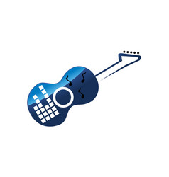 Guitar music lesson vector