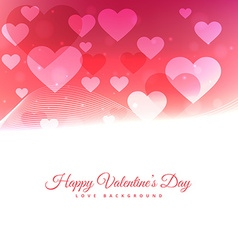 Happy valentines day with floating hearts vector