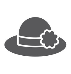 hat glyph icon clothing and fashion womans hat vector image