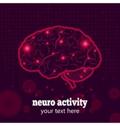 Human brain neural activity vector