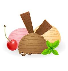 ice cream balls 03 vector image