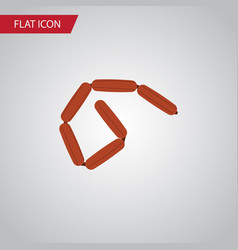 isolated frankfurt flat icon bratwurst vector image