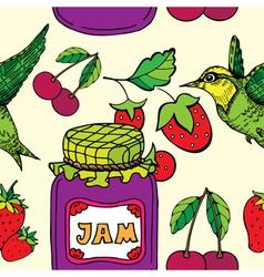 jam jar print vector image vector image