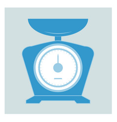 kitchen scales icons vector image