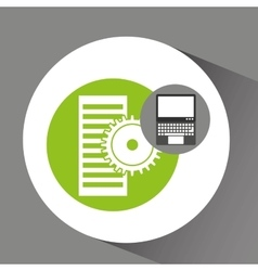 Laptop technology data server gear vector