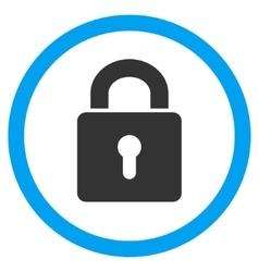 Lock Keyhole Flat Rounded Icon vector