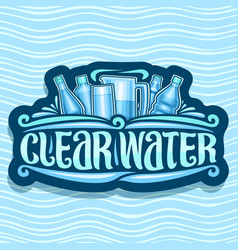 logo for clear water vector image