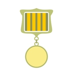 Medal award military flat icon vector