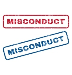 Misconduct rubber stamps vector