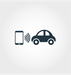 mobility creative icon monochrome style design vector image