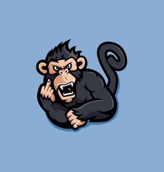 Monkey mascot vector