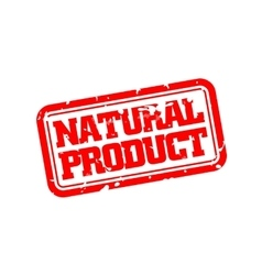 Natural product rubber stamp vector image