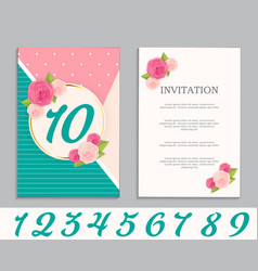 nature flower cute template set of anniversary vector image