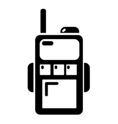 paintball walkie talkie icon simple style vector image