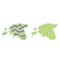 population and flora estonia map vector image
