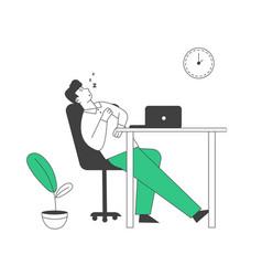 procrastination overwork burnout symptom concept vector image