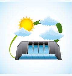 Renewable energy clean design vector