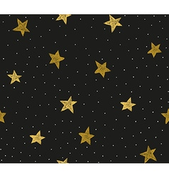 Seamless pattern with chaotic dots and stars vector