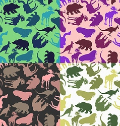 Set animal pattern Color options from ornaments of vector image